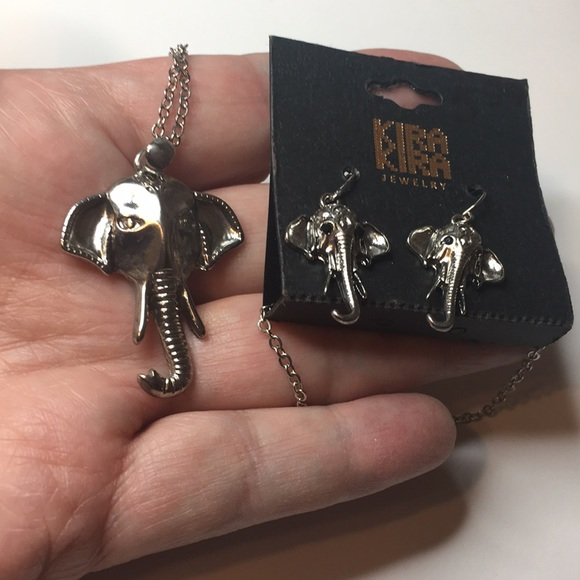 Costume Jewellery Elephant Necklace And Earrings Sets